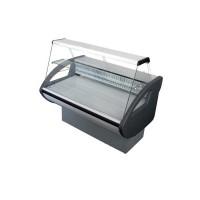 Витрина холодильная Росс Rimini-1,2 Н с плоским стеклом; 1,29х0,8 м (от 0 до +8°С с полкой),эконом