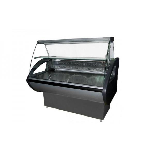 Витрина холодильная РОСС Россинка-1,2 ВС Эконом; 1,29х0,8 м (от 0 до +8°С с полкой), гнутое стекло