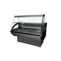 Витрина холодильная РОСС Россинка-2,0 ВС Эконом; 2,0х0,8 м (от 0 до +8°С с полкой), выпуклое стекло