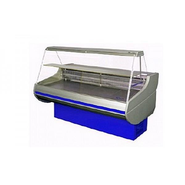 Холодильная витрина РОСС Стандарт Siena 0,9-1,2 ПС (0...+8°С, 1,29х0,9 м, с плоским стеклом)