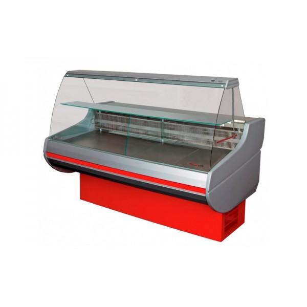 Холодильная витрина РОСС Стандарт Siena 1,1-1,2 ВС (0...+8°С, 1,29х1,1 м, с выпуклым стеклом)