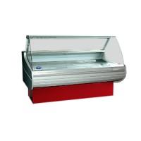 Холодильная витрина РОСС Бизнес Belluno D-1,1-1,2 (+2...+8°С, 1,29х1,1 м, выпуклое стекло)