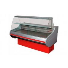 Холодильная витрина РОСС Стандарт Siena-П-1,1-1,5 ВС (до -5°С, 1,59х1,1 м, с выпуклым стеклом)