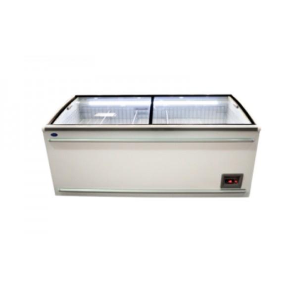 Морозильный ларь-бонета Росс FRIZA ВХТ-Н-Л-СВ-1000 (-18…-24°С, длиной 2,5 м, с плоским стеклом)