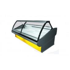 Холодильная витрина РОСС Люкс Florenzia-2,4 (+1...+4°С, 2,4х1,2 м, с выпуклым стеклом)
