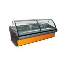 Кондитерская витрина РОСС Люкс Florenzia-К-1,2 (+2...+8°С, 1,2х1,2 м, с агрегатом и выпуклым стеклом)