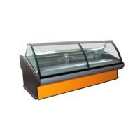 Кондитерская витрина РОСС Люкс Florenzia-К-2,4 (+2...+8°С, 2,4х1,2 м, с агрегатом и выпуклым стеклом)