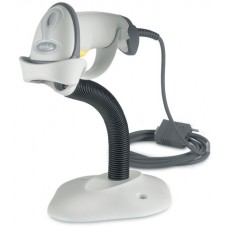 Сканер штрих-кодов Motorola Symbol LS-2208 (KBW) с подставкой, белый