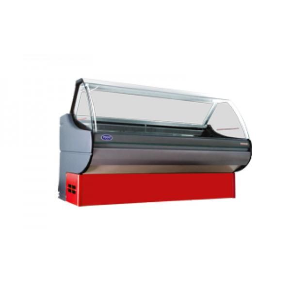 Холодильная витрина РОСС Люкс Sorrento 2,4-В (0...+8°С, 2,4х1,1 м, без боковых панелей, с агрегатом)