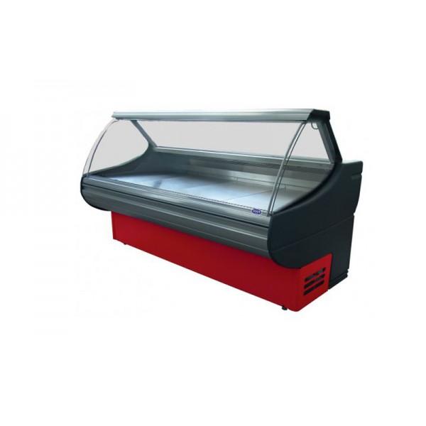Холодильная витрина РОСС Люкс Sorrento D-2,4-ВА (+2...+8°С, 2,4х1,1 м, без боковых панелей и агрегата)