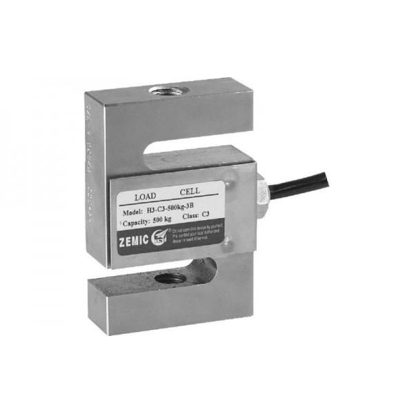 S-образный тензодатчик Zemic H3-C3-2,5t-6B до 2500 кг (сталь c никелевым покрытием)