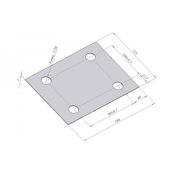 Подкладка под крепежную плиту (втулку) ZEMIC HD-9-402-10/40t (квадратная) для тензодатчика НМ9А