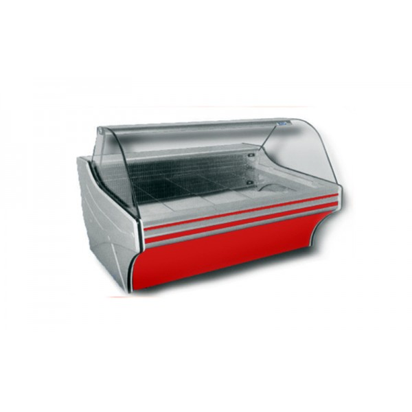 Холодильная витрина Cold W-12 SG (+2...+8°С, 1235х1090х1250 мм, стекло гнутое 1/4 окружности)