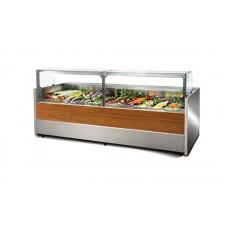 Холодильная витрина Cold (Польша) W-25 PS-k (2560х1155х1190 мм), +2...+8°С, выносной агрегат