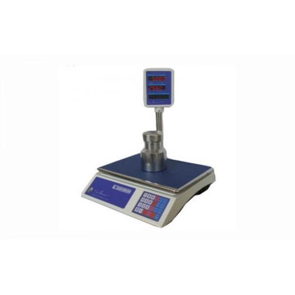 """Торговые электронные весы со стойкой ВТНЕ-15Т3 """"Амиго"""" до 15 кг, точность 2/5 г"""