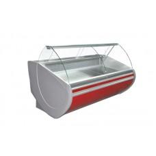 Холодильная витрина Технохолод ПВХС - Флорида 2.5  (0...+8°С, 2490х1120х1230 мм, стекло гнутое)