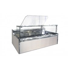 Холодильная витрина Технохолод ПВХС - Миссури А 1.4 (0...+8°С, 1500х1225х1270 мм, стекло прямое)