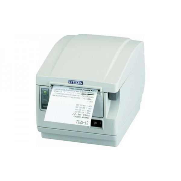 POS-принтер Citizen CT-S651 белый (фронтальный выход бумаги) + Compact Internal Ethernet Card