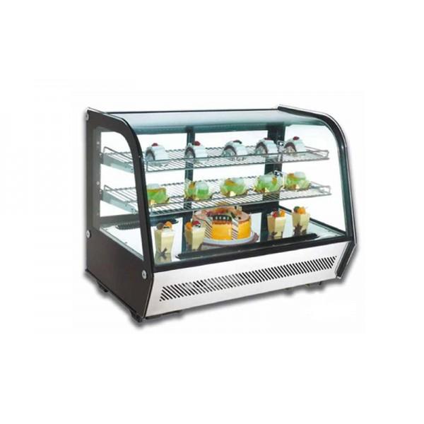 Настольная холодильная витрина Scan RTW 120 (от 0 до +12°С, 696х568х686 мм, стекло гнутое)