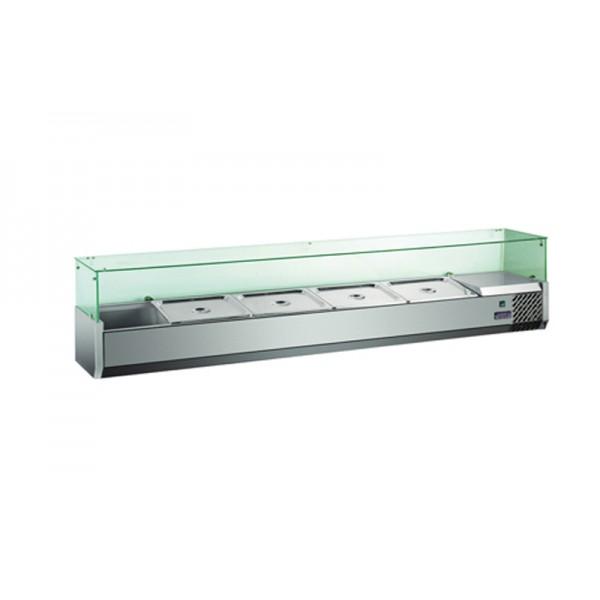 Настольная холодильная витрина Hendi 232910 (0...+10°С, 1500x335x465 мм, на семь гастроемкостей)