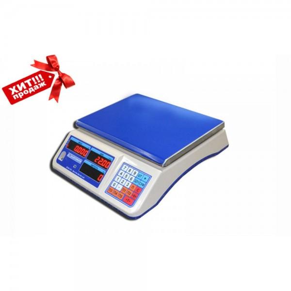 """Торговые электронные весы без стойки ВТНЕ/1-15Т1 """"Яблочко"""" до 15 кг, точность 2/5 г"""