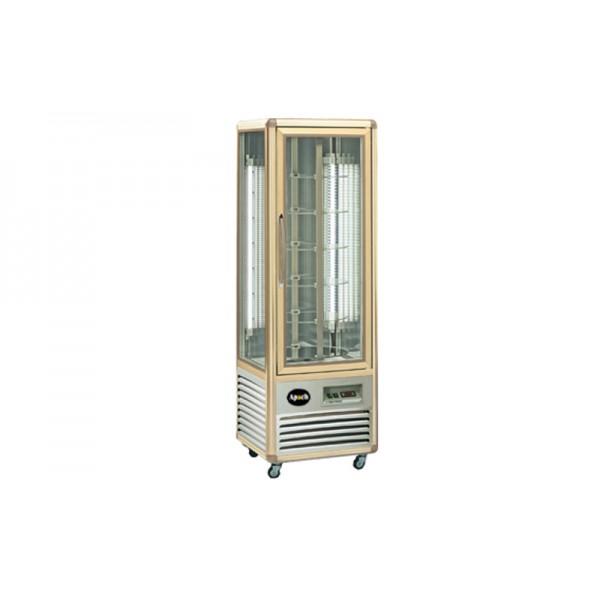 Кондитерский шкаф Apach AVP350R Snelle (+4...+10°С, 595х658x1810 мм, 6 круглых полок), бронза