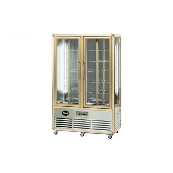 Кондитерский шкаф Apach AVP700R Snelle (+4...+10°С, 1150х660x1810 мм, 12 круглых полок), бронза