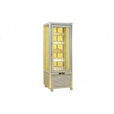 Кондитерский шкаф FrostEmily PRISMA 400 TNV-PG (+4...+10°С, 674x674x1821 мм, 5 круглых полок)