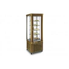 Кондитерский шкаф Silfer VE 35 TNR (+4...+10°С, 640х640х1810 мм, 5 круглых полок), бронза