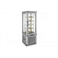 Кондитерский шкаф Silfer VE 35 TNR (+4...+10°С, 640х640х1810 мм, 5 круглых полок), серебро