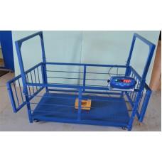 Весы для свиней и поросят TRIONYX  П0712-СК-3000 (700х1200 мм, НПВ=3000 кг, d=1000 г)