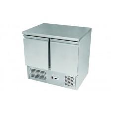 Двухдверный холодильный стол Hendi 232019 с корпусом из нержавеющей стали (+2...+8°С, 900х700х850 мм)