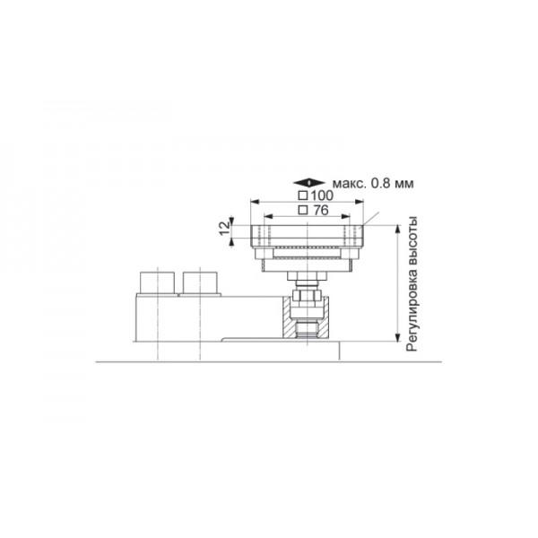 Эластомерная опора HBM HLCB/ZDP; НПВ: 4.4 т