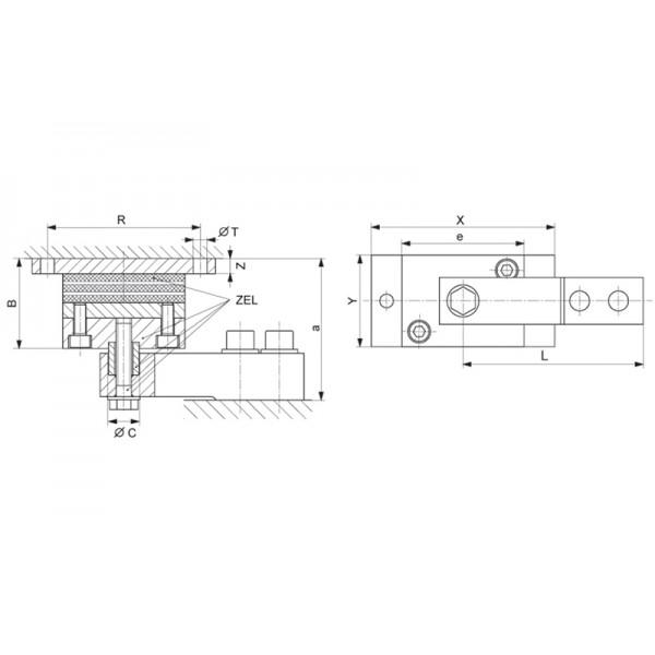 Эластомерная опора HBM HLCB/ZEL; НПВ: 4.4 т