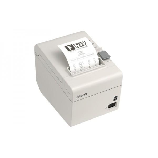 Термопринтер печати чеков EPSON TM-T20 Ethernet с обрезчиком белый
