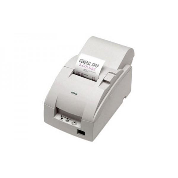Чековый принтер с обрезчиком EPSON TM-U220A (RS-232) белый + модуль Ethernet