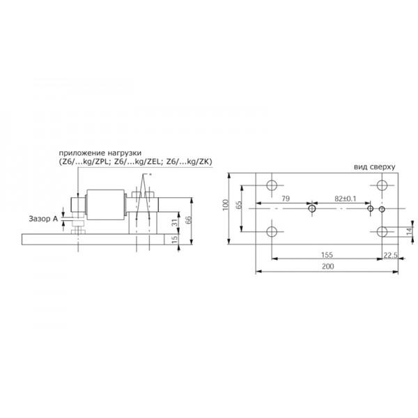 Опорный блок для номинальных нагрузок 500 кг HBM Z6/ZPU/500KG