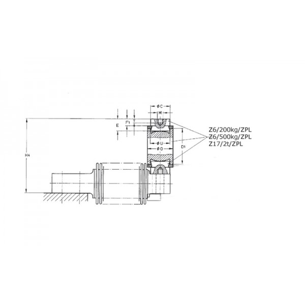 Маятниковая опора HBM Z6/500KG/ZPL