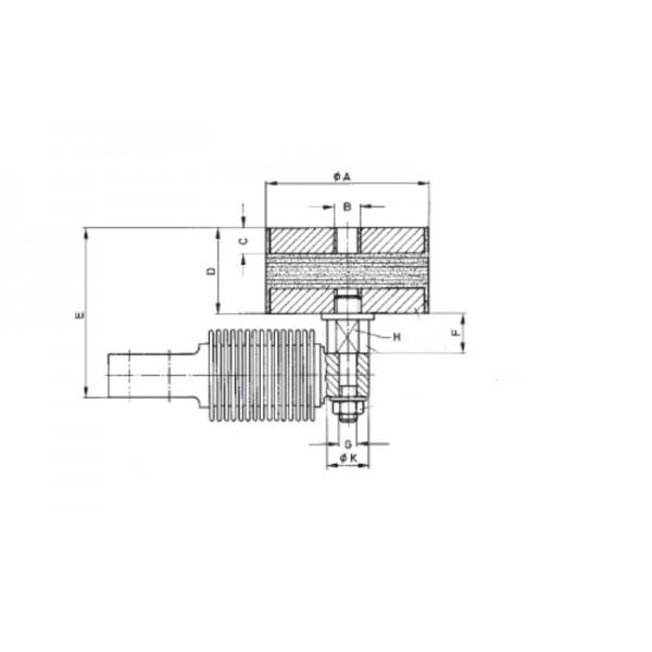 Шарнирная опора HBM Z6/ZFP/200KG