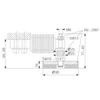 Шарнирная опора HBM Z6/ZKP/200KG