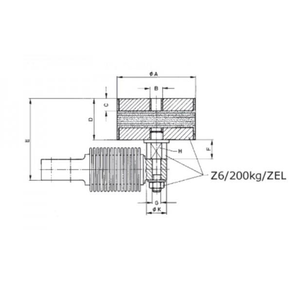 Эластомерная опора HBM Z6/200KG/ZEL