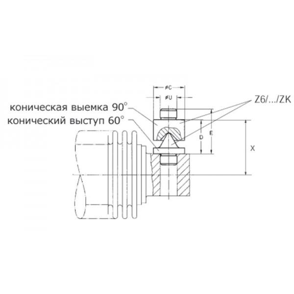 Коническая опора HBM Z6/1Т/ZK