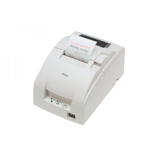 Компактный принтер чеков TM-U220D (LPT) белый, без обрезчика + модуль Ethernet