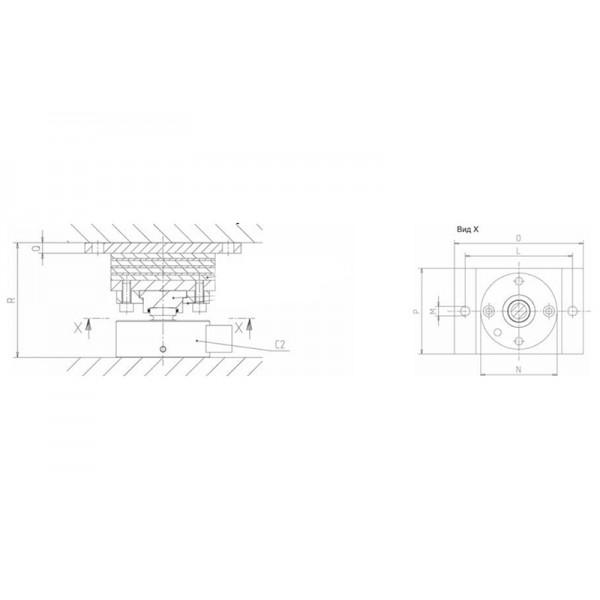 Эластомерная опора HBM ZELB/10T для датчика силы С6A