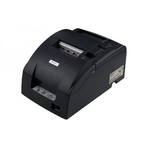 Небольшой чековый принтер TM-U220D (LPT) черный, без обрезчика + модуль Ethernet