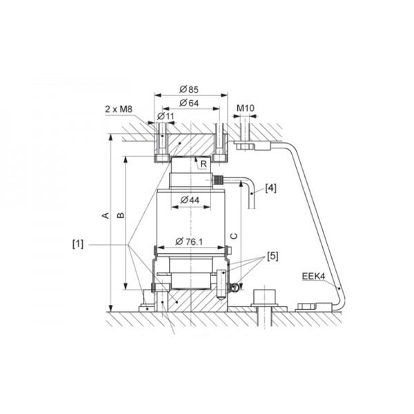 Монтажная опора HBM C16/ZOU44A3 для тензодатчика колонного типа C16A