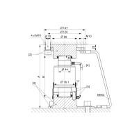 Монтажная опора HBM C16/EPU44A для тензодатчика колонного типа C16A
