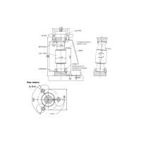 Монтажная опора HBM C16/EPU64 для тензодатчика колонного типа C16A