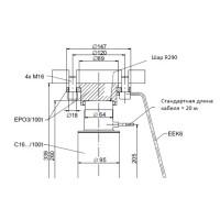 Монтажная опора HBM EPO3/100T для тензодатчика колонного типа C16A