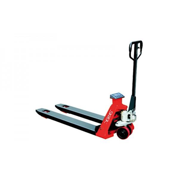Ручная гидравлическая тележка с принтером Skiper SFC20 print 1150PP Profi (2000 кг), длина вил: 1150 мм, длина вил: 1150 мм